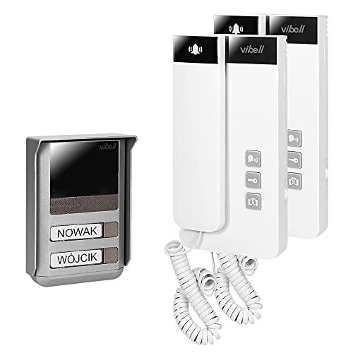 Vibell SALEM MULTI Telefonillo Portero Automatico de Superficie de 2 Familias 2 Cables