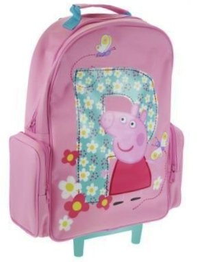 Peppa Pig Trolley Bag Kids Luggage Wheeled Bag Suitcase