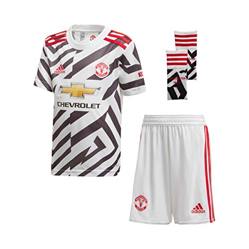 adidas Kinder Minikit 20/21 MUFC 3RD Minikit, White/Black, 116, FM4273