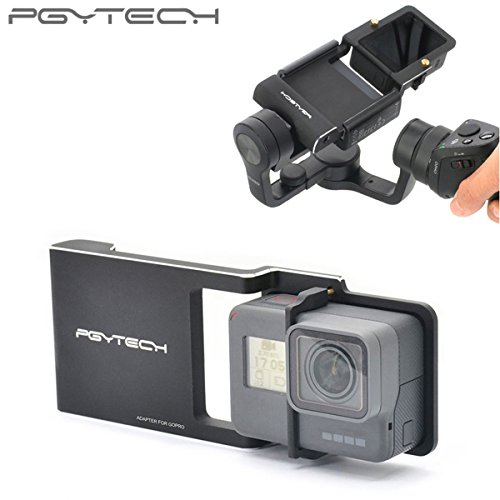 Pgytech Adapter for osmo Mobile zhiyun Gopro Hero 6 5 4 3 + xiaoyi Smooth Q Accessory Switch Mount Plate Camera Drone Parts