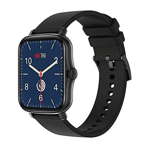 Pulsera de Actividad Inteligente Reloj Inteligente Deportivo para Hombre Mujer Niños Niñas IP67 Smartwatch 1,69' Monitor de Sueño Podómetro Sms Llamadas iPhone Huawei Xiaomi Android Samsung (Negro)