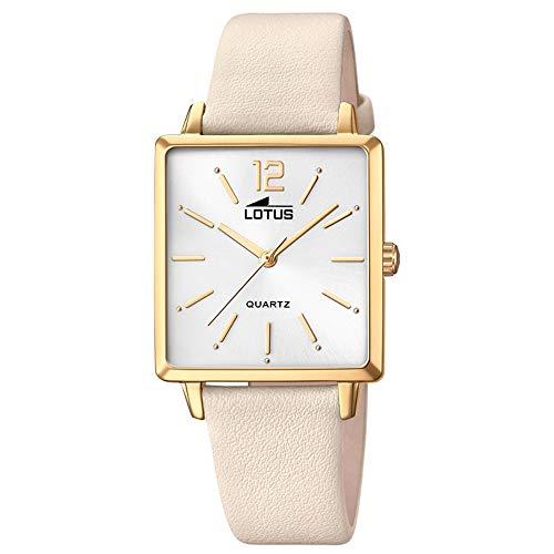LOTUS dames horloge Fashion 18713/1 leer kwarts horloge Trendy Creme UL18713/1