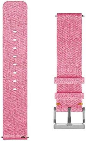 QWERBAM Vervangende woven bandjes nylon armbandbeugelbandsportbeugel voor Fitbit Versa Smartpolshorlogeband voor Smart Watch