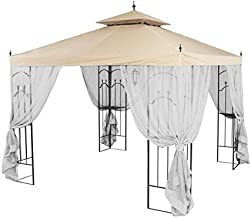 Garden Winds Replacement Canopy for Home Depot's Arrow Gazebo with Rip Lock Technology