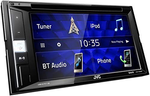 JVC KW-V250BT 2-DIN Multimedia-Autoradio mit 15, 7 cm Touchscreen (DVD, Bluetooth Freisprecheinrichtung, Soundprozessor, USB, Android- und Spotify Control)
