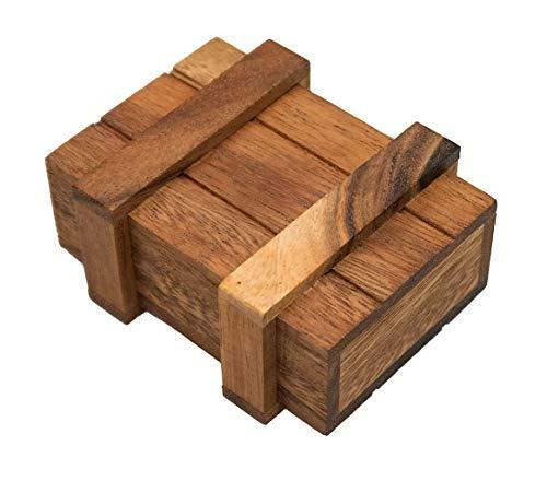 ROMBOL Geschenkbox, Magic Box, Schatzkiste, Geschenkverpackung, klein, Denk- und Knobelspiel, Holz