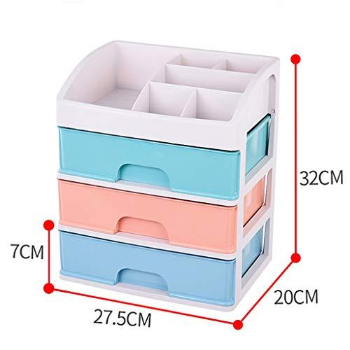 Type de tiroir Multicouche Boîte de Rangement cosmétique en Plastique Bureau Rouge à lèvres Bijoux Produits de Soin de la Peau Boîte de Stockage Affichage FANJIANI (Size : 27.5 * 20 * 32cm)