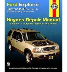 Haynes Publications, Inc. 36025 Repair Manual 2002 Mercury Mountaineer Manual