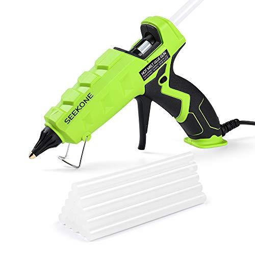 SEEKONE Hot Glue Gun, 60/100W Dual Power Heavy Duty High Temp Melt Glue Gun Kit Tools with 20 Pcs Premium Glue Sticks Suitable for Quick Home Repairs, Arts, Crafts, DIY and Sealing