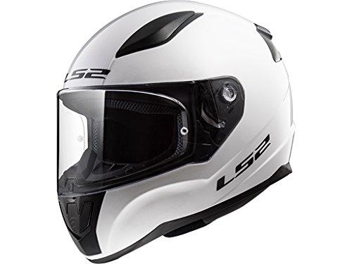 LS2 Rapid Casco de Moto, Hombre, Blanco, XL