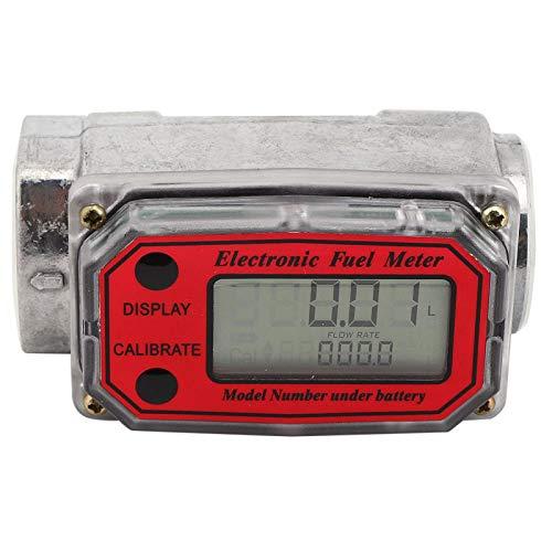 Caudalímetro de turbina digital mini, Caudalímetro práctico y conveniente Caudalímetro digital de diseño modular aplicable a caudal acumulativo(Red LLW-25, 12)