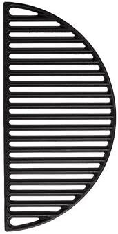 Aura Outdoor Products Half Moon Cast Iron Reversible Grate for Large Big Green Egg or Any 18 product image