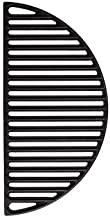 Aura Outdoor Products Half Moon Cast Iron Reversible Grate for Large Big Green Egg or Any 18 Inch Grill