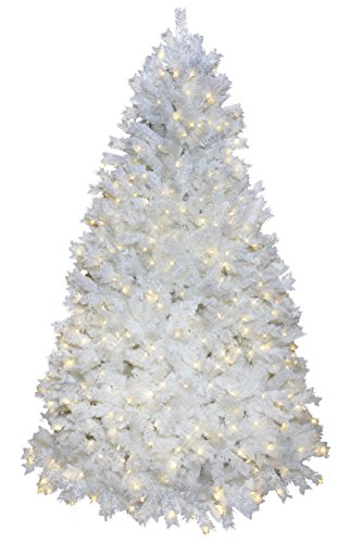 STAR 608–42Ontario pisello Albero di Natale bianco 620LED bianco caldo 225x 140cm