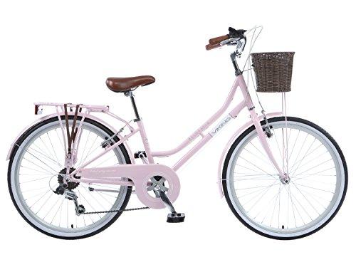 Viking Belgravia Girls Traditional Heritage 24' Wheel 6 Speed Bike Pink