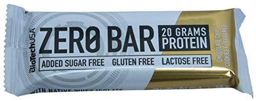 BioTech USA - Zero Bar, 10 x 50g Galletas con chispas de chocolate