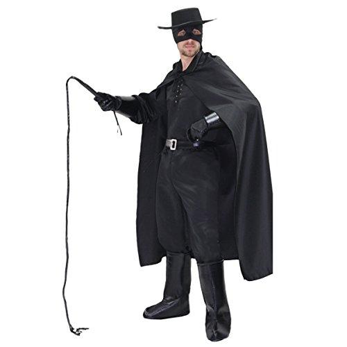 Pegasus Vestito Costume Maschera di Carnevale Adulti - Zorro - Taglia XL - 52/54 Uomo