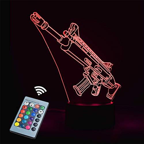 Lámpara de ilusión 3D con 16 colores cambiantes y control remoto, regalo de cumpleaños para niños y niñas de 6 a 5 4 años, regalo de Navidad