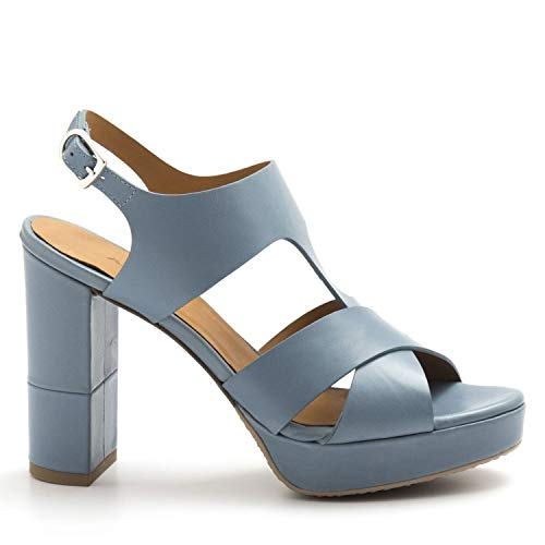 AUDLEY - Light Blue Leather Audley Vaitiare Sandals