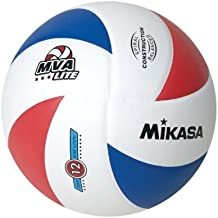 Mikasa Lite 8 Panel Official 12 and under Volleyball (Red/White/Blue, Official) by Mikasa Sports