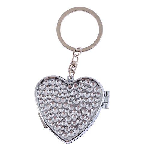 Fashion Heart Shape Multi-Size Clear Bling Crystal Portable Pill Box Cute Rhinestone Pill Splitter Container Case