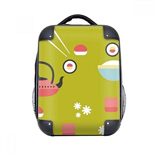 DIYthinker Reis Teekanne Cup Sushi Japan Hard Case Schulter Kinder Rucksack Geschenk 15
