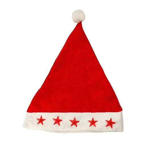 GEXING Adulti Cappelli di Natale Cappelli di Natale Neonati Il Tappo Anziani Decorazioni di Natale Cappello Illuminato