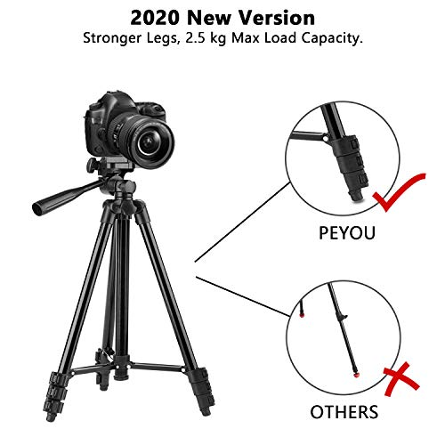 PEYOU Compatible for iPad iPhone Tripod, 50
