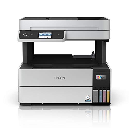 Epson EcoTank ET-5150 3-in-1 Tinten-Multifunktionsgerät (Kopierer, Scanner, Drucker, A4, ADF, Duplex, WiFi, Ethernet, Display, USB 2.0), großer Tintentank, hohe Reichweite, niedrige Seitenkosten