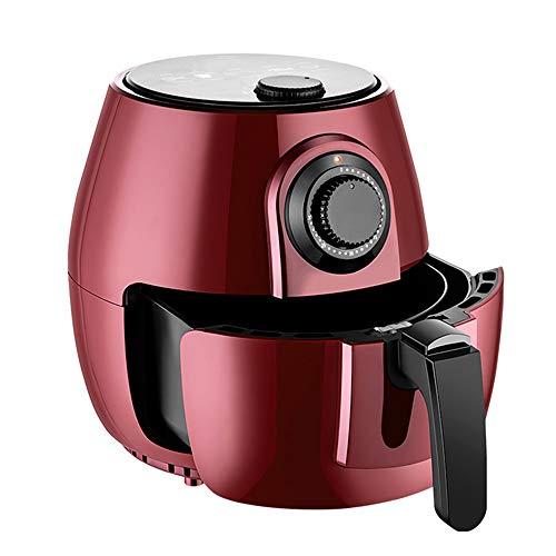 QuRRong Friggitrice ad Aria Air Fryer 4L capacità Cibo Sano Include Cottura Set e Ricettario per Una Sana Alimentazione Senza Olio (Color : Red, Size : 26x30x26cm)