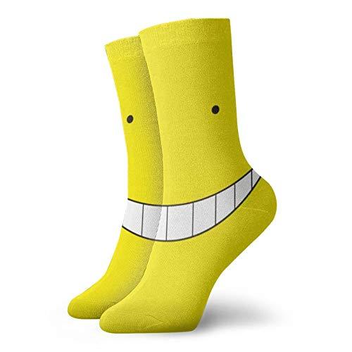 Hangdachang Lustiges Weihnachtsgeschenk Korosensei Kissen Socken für Männer und Frauen Bequeme feuchtigkeitssichere Freizeit Crew Socken 30cm