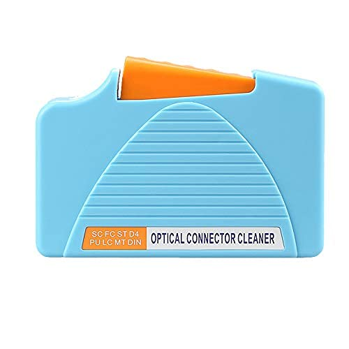 Fiber Optic Connector Clean Box FTTH Werkzeuge für SC, FC, LC (blau)