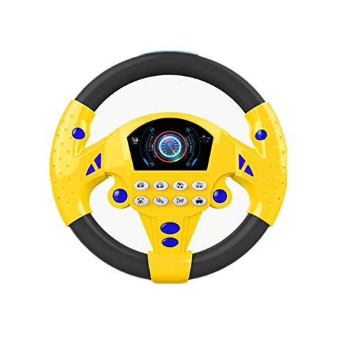 XKMY Juguetes educativos para bebés Eletric Simulación Volante de juguete con sonido ligero para bebés y niños musicales Coilot Cochecito Volante Juguetes vocales (Color: 21 cm amarillo)