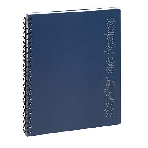 Exacompta 999452E - Un Cahier de textes 17x22cm, Sporty Spirale bleu.
