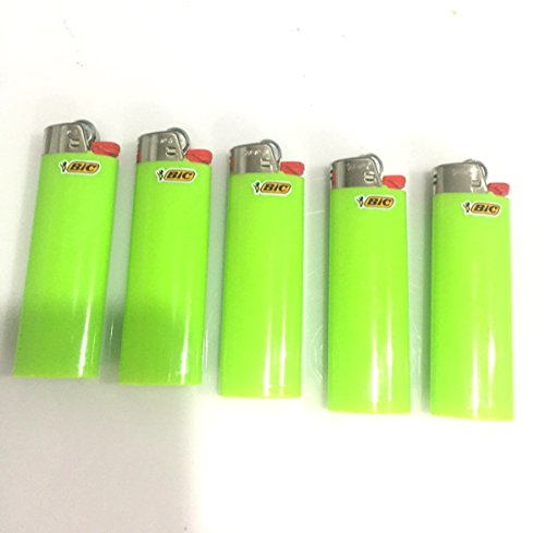 BIC Full Size Lighter - 5 Ct - Green Solid Color