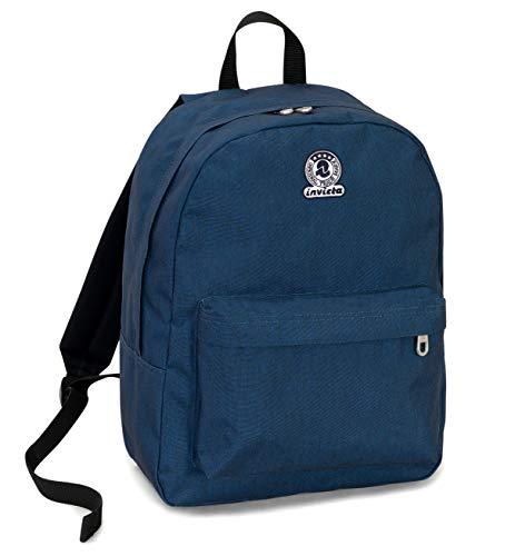 Zaino Invicta Benin S Eco-Material, Blu, 25 Lt, Tasca porta Laptop fino 13'', Scuola & Tempo Libero