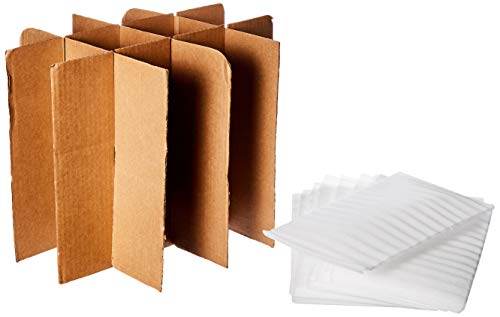 uBoxes Glass Divider Kit, 12 Pouches, 1 Cell Divider