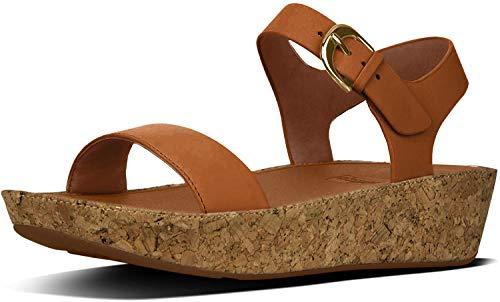 FitFlop Women's Bon II Back-Strap Sandals Medical Professional Shoe, Caramel, 9 M US