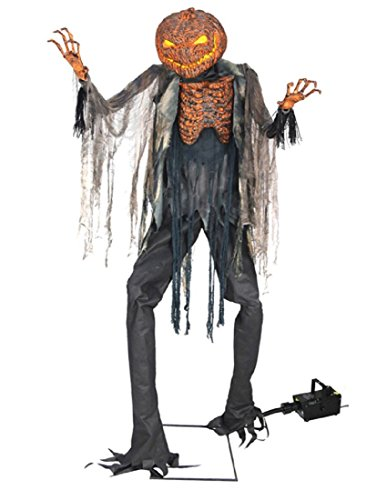 Animated Scorched Scarecrow Halloween Prop with Fog Machine