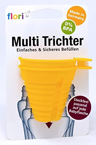 floribottle®, biberon senza BPA, tettarella anti colica, in silicone, 300 ml, di colore: blu