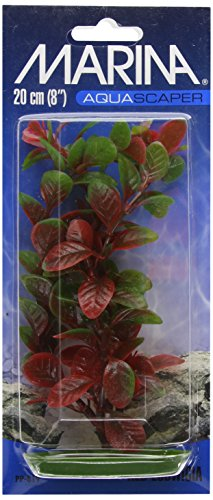 Marina Plantas Plásticas AquascaperMedianas LudwigiaRoja,20 cm