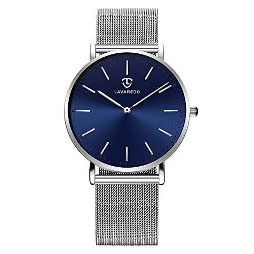 Herren Uhren Ultra Dünne Analog Quarz Armbanduhr Minimalistische Wasserdicht Klassisch Mode Uhr mit Edelstahl Armband