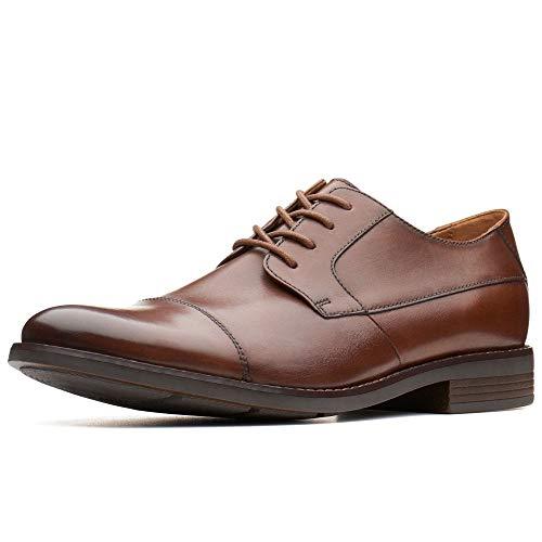 Clarks Becken cap, Scarpe Stringate Derby Uomo, Marrone (Tan Leather-), 41.5 EU
