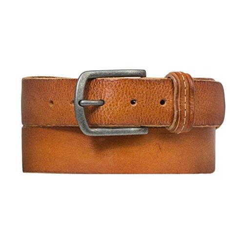 Cowboysbelt heren leren riem 401002 Cognac - maat 90