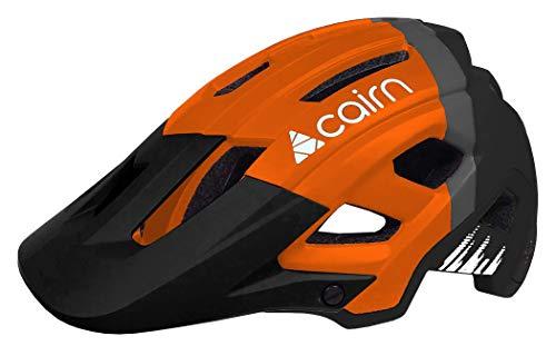 Cairn - Fahrradhelm Erwachsene Berghelm Active Allmountain Schwarz Orange- Dust II - Moutainbike All Terrain Outdoor