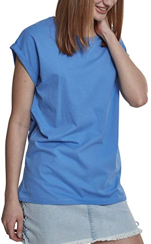 Urban Classics Damen T-Shirt Ladies Extended Shoulder Tee, Farbe horizonblue, Größe XL