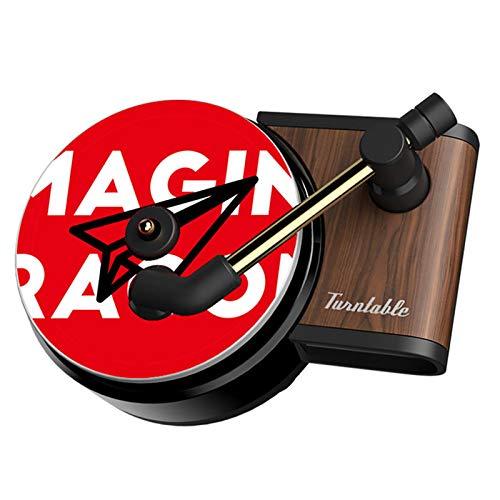 Car Fragrance Diffuser, 2 Packs Retro Unique Shape Record-Player Design Car Perfume Air Freshener with Vent Clip, Automotive Air Freshener Purifier, 2.2x2.1x1.6 inch