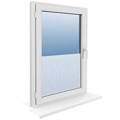 ROLLMAXXX Fensterfolie Statische Sichtschutzfolie Milchglasfolie Glasdekorfolie Selbstklebend (45x250cm, Fantazie)