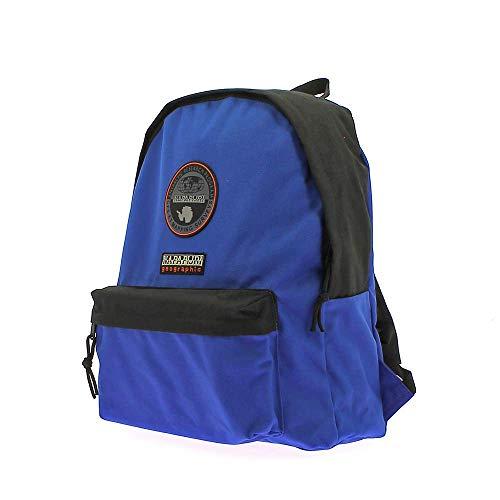Napapijri Voyage Team - Zaino Unisex Adulto 40 × 32 × 13 cm esclusa tasca frontale adatto per la scuola nonché per essere utilizzato come bagaglio a mano (Nero Azzurro)