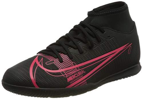Nike Herren Mercurial Superfly 8 Club IC Football Shoe, Black/Black-Cyber-Siren Red, 42 EU